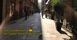 Catalunya Barcelona Film social media image city street background with logo