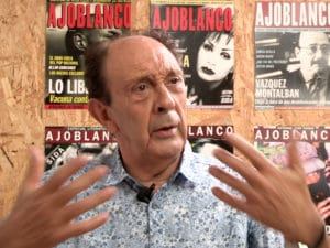 Publisher of Ajoblanco, Pepe Ribas, speaks to the Catalunya Barcelona Film team.