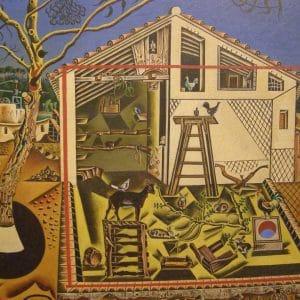 Catalunya Barcelona interview showing a Joan Miro painting