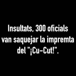 Text from Cu-Cut Promo clip for Catalunya Barcelona