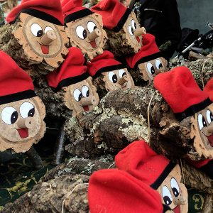 Photos of dressed logs honoring Christmas tradition Caga Tió