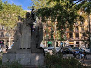 Plaça Goya during the daytime for Catalunya Barcelona film