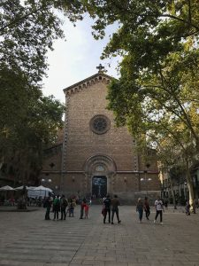 Church on Barcelona's Plaça de la Virreina