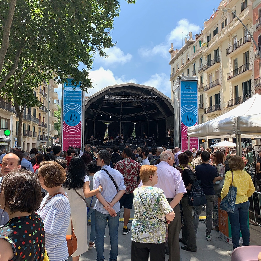 Photo of 12 Hores de Jazz a Ronda concert in the Sant Antoni neighborhood of Barcelona.