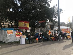 Pro-unionist tents and encampments during the constitutional crisis of 2017