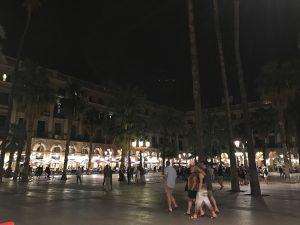Barcelona's Plaça Reial at night