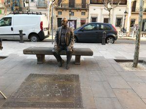 Statue of archtiect Rovira i Trias Barcelona's Plaça de Rovira i Trias.