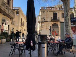 A terrace on Barcelona's Plaça de la Concòrdia