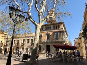Terrace view Barcelona's Plaça de la Concòrdia