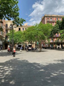 Portrait photo of Barcelona's Plaça del Diamant