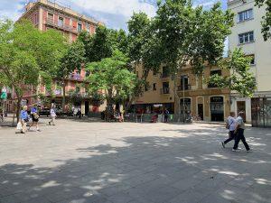 The promenade on Barcelona's Plaça del Diamant
