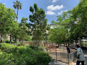 Playground at Barcelona's Plaça Lesseps.