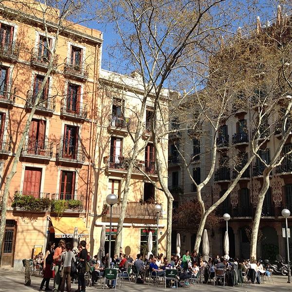 Barcelona's Plaça de la Virreina during the day