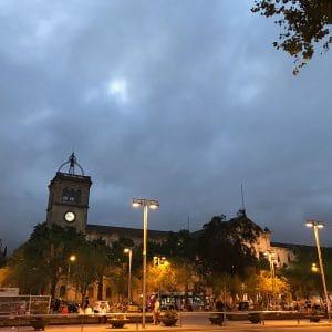 Plaça de la Universitat at night Catalunya Barcelona Film
