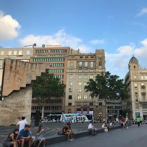 Barcelona's Plaça de Catalunya around midday.