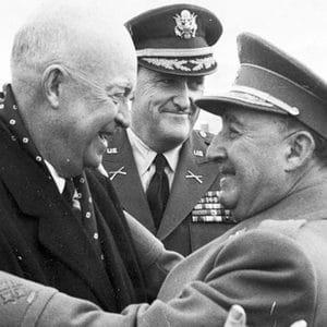 Photo of President Eisenhower hugging Francisco Franco for Catalunya Barcelona film
