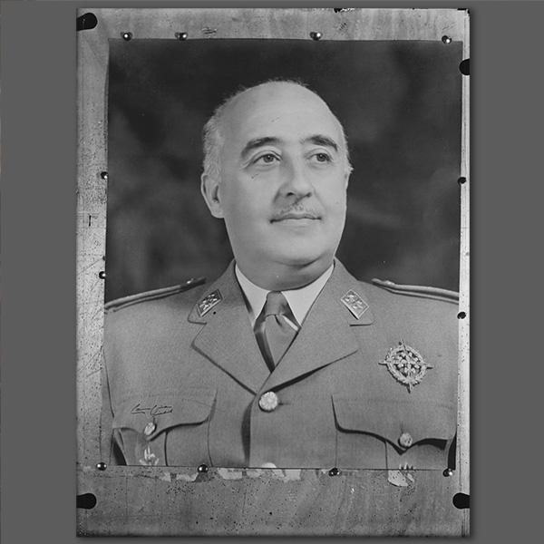 Photo of Francisco Franco for Catalunya Barcelona film