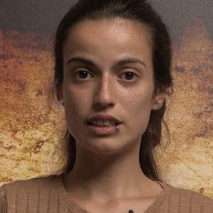 Interview subject Helena Ruiz during interview with Catalunya Barcelona film team.