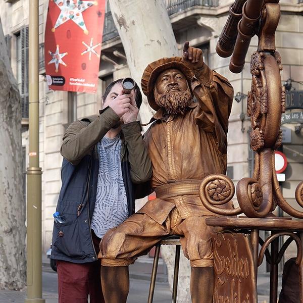 A living statue on Barcelona's famous Las Ramblas.