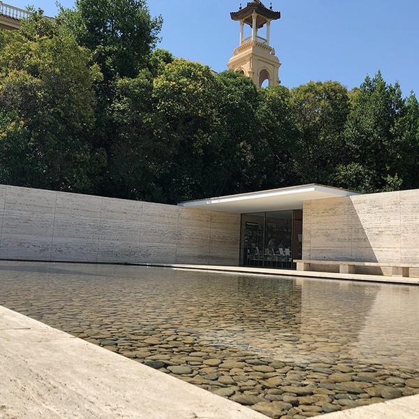 Photo of Mies Pavilion Catalunya Barcelona Film