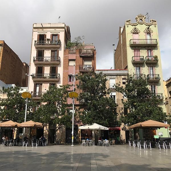Barcelona's Plaça del Sol in the morning