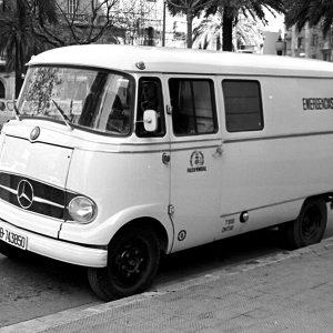 Catalunya Barcelona photo of 1960s police van