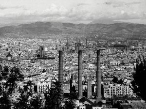 1932 - Panoramic view of Barcelona.