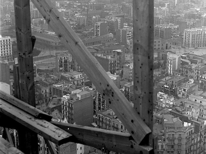 1931 - View of Eixample neighborhood from Sagrada Familia