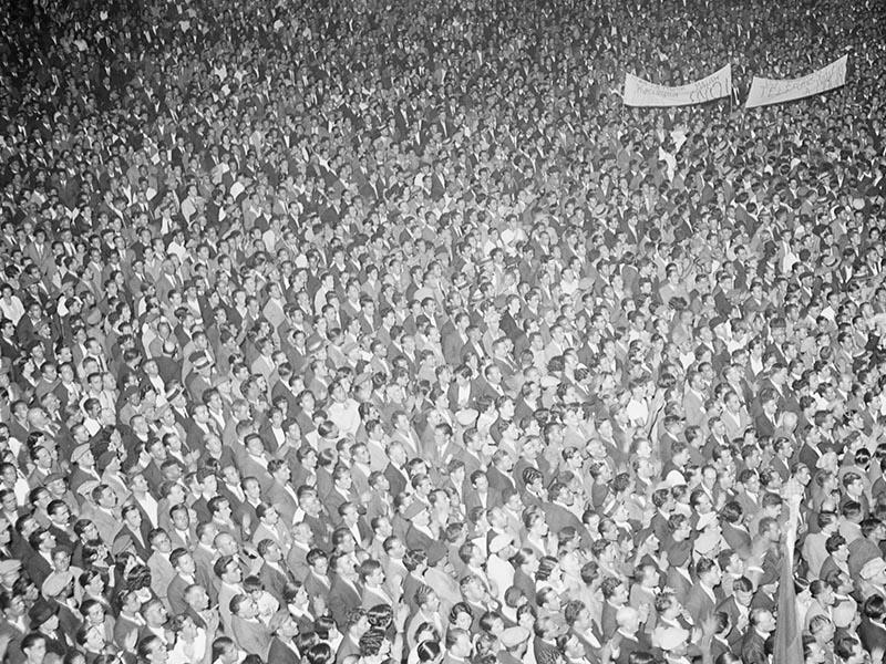 1931 - Celebration of Francesc Macià's election victory.