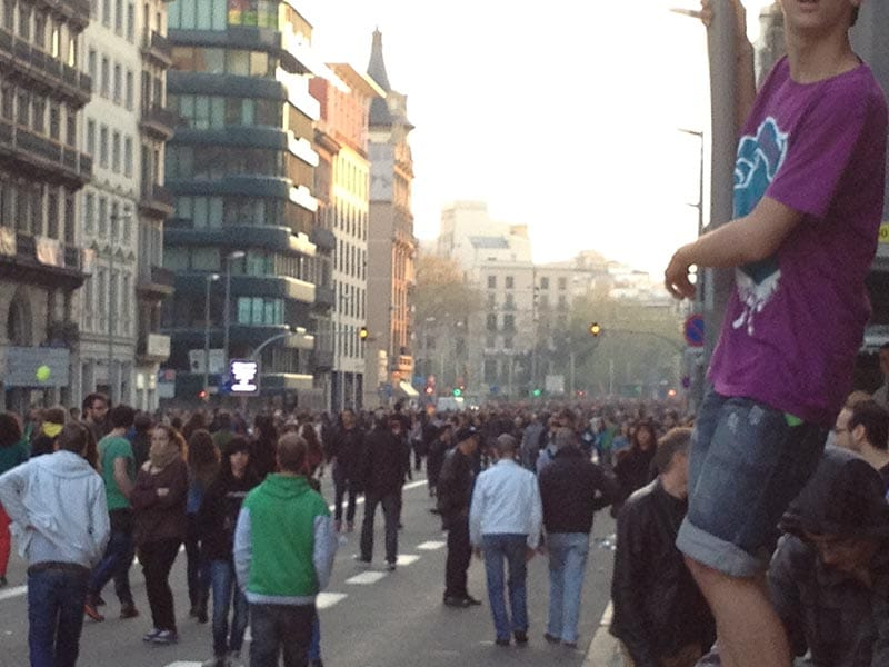 2011 - Protesting austerity measures in Barcelona.