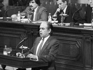 1980 - Jordi Pujol. Election of the President of the Generalitat de Catalunya.