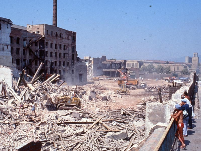 1987 - Demolition of buildings for construction of Olympic Village.
