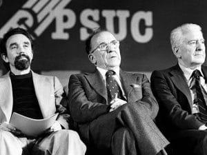 1977 - 4th PSUC Congress, w_ Antoni Gutiérrez Diaz, Santiago Carrillo