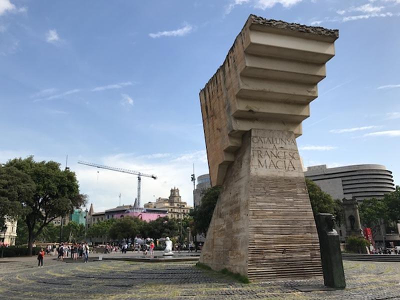 Monument to Francesc Macià on Plaça de Catalunya