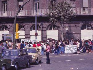1979 - Protests by Barcelona's Plaça Espanya