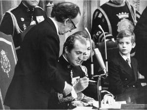 1978 - Signing of Spanish Constitution by King Juan Carlos I