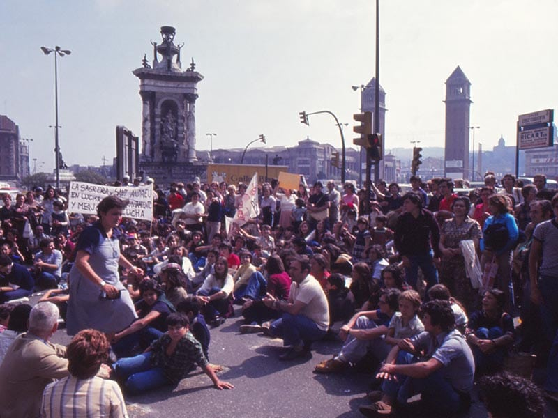 1979 - Protests at Plaça Espanya