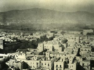1850 - Panoramic view of the city from the bell tower of the basilica.
