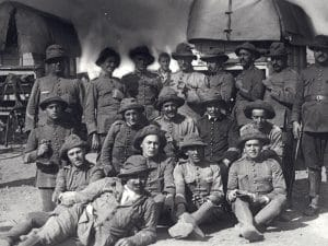 1921 - Sergeants and officers of the Catalan Regiment of Alcántara.