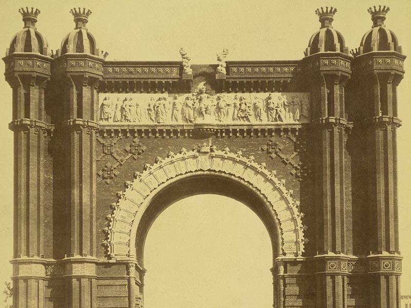 Frieze atop Barcelona's Arc de Triomf.