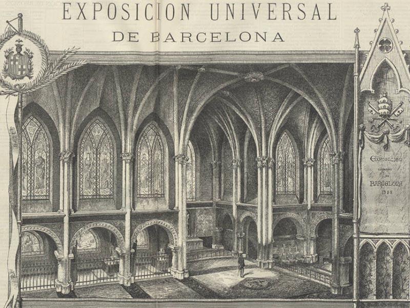 Barcelona Universal Exposition - Model Church interior