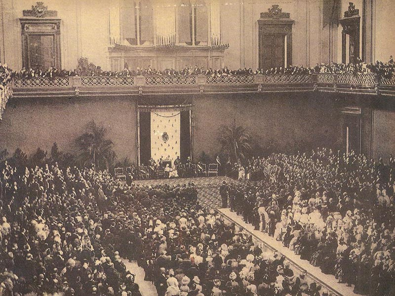 Opening ceremony of Barcelona Universal Exposition of 1888.