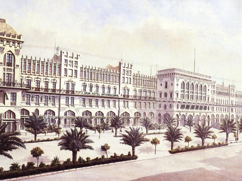 Hotel Internacional, created by Domènech i Montaner.