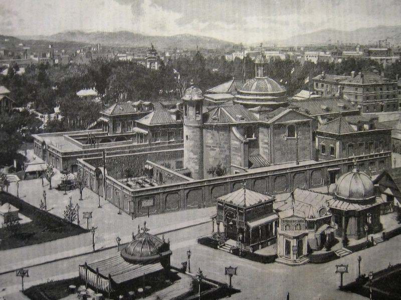 View of 1888 Barcelona Universal Exposition.