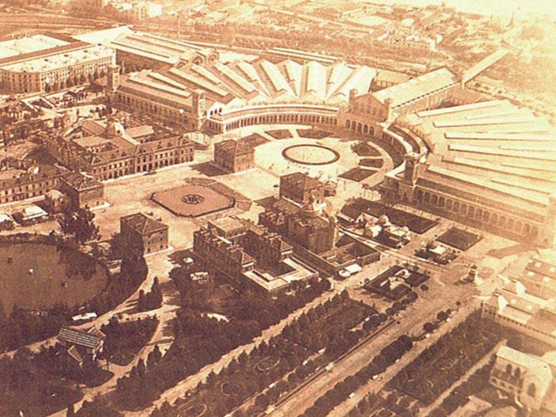 Aerial View of 1888 Exposicion Universal Barcelona