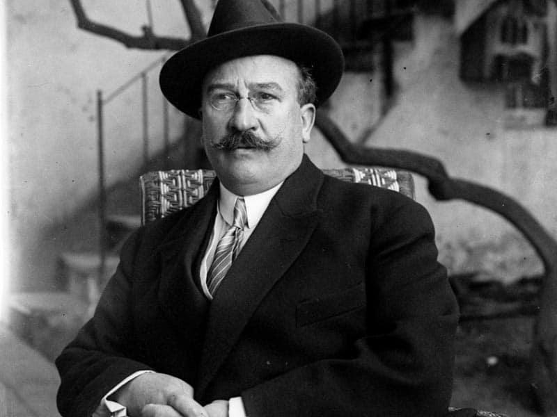1920 - Politician Alejandro Lerroux at his private home near Josepets in Barcelona