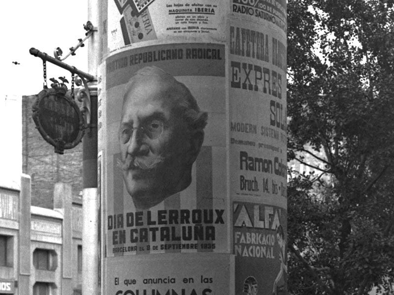 1935 - Radical Republican Party posters announcing Lerroux Day in Barcelona.
