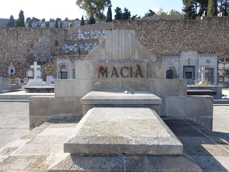 Gravesite of Francesc Macià in cemetery on Montjuïc in Barcelona