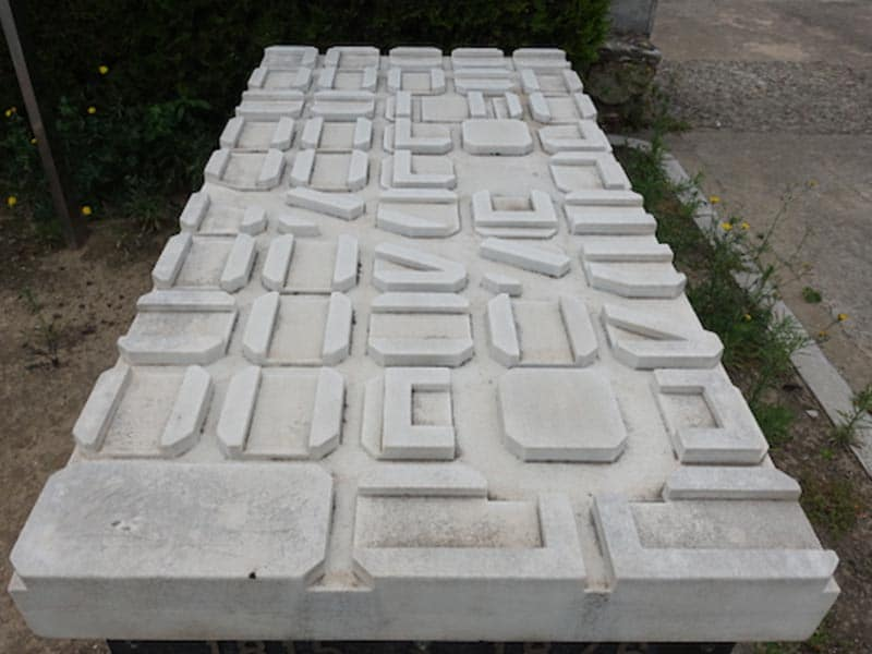 Gravesite of Ildefons Cerdà in cemetery on Montjuïc in Barcelona.