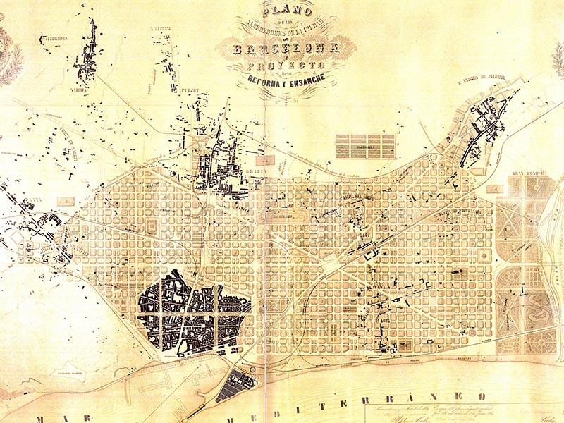 Plans for Ildefons Cerdà Eixample